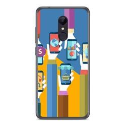 Funda Gel Tpu para Xiaomi Redmi 5 Diseño Apps Dibujos