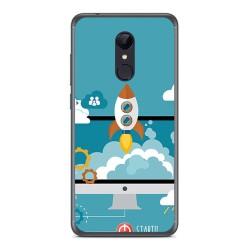 Funda Gel Tpu para Xiaomi Redmi 5 Diseño Cohete Dibujos