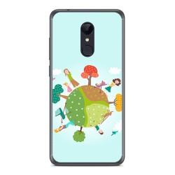 Funda Gel Tpu para Xiaomi Redmi 5 Diseño Familia Dibujos