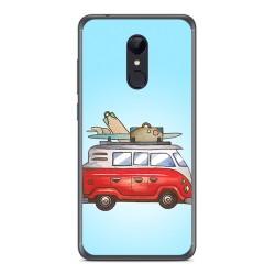 Funda Gel Tpu para Xiaomi Redmi 5 Diseño Furgoneta Dibujos