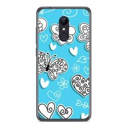 Funda Gel Tpu para Xiaomi Redmi 5 Diseño Mariposas Dibujos