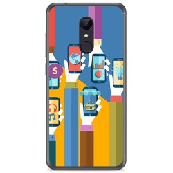 Funda Gel Tpu para Xiaomi Redmi 5 Plus Diseño Apps Dibujos