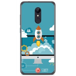Funda Gel Tpu para Xiaomi Redmi 5 Plus Diseño Cohete Dibujos