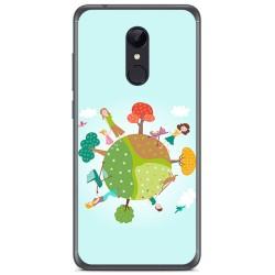 Funda Gel Tpu para Xiaomi Redmi 5 Plus Diseño Familia Dibujos