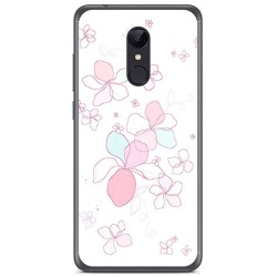 Funda Gel Tpu para Xiaomi Redmi 5 Plus Diseño Flores Minimal Dibujos