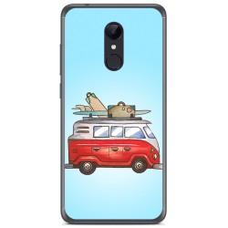 Funda Gel Tpu para Xiaomi Redmi 5 Plus Diseño Furgoneta Dibujos