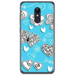 Funda Gel Tpu para Xiaomi Redmi 5 Plus Diseño Mariposas Dibujos
