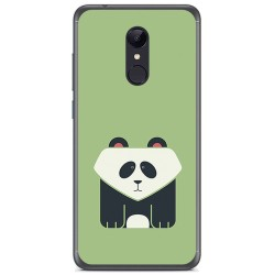 Funda Gel Tpu para Xiaomi Redmi 5 Plus Diseño Panda Dibujos