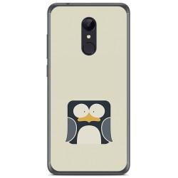 Funda Gel Tpu para Xiaomi Redmi 5 Plus Diseño Pingüino Dibujos