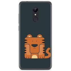 Funda Gel Tpu para Xiaomi Redmi 5 Plus Diseño Tigre Dibujos