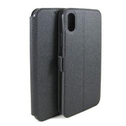 Funda Soporte Piel Negra para Iphone X / XS Flip Libro