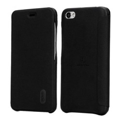 Funda Piel Flip Negra Marca Lenuo para Xiaomi Redmi Note 5A