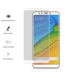 Protector Cristal Templado Frontal Completo Blanco para Xiaomi Redmi 5 Vidrio