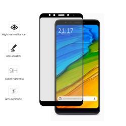 Protector Cristal Templado Frontal Completo Negro para Xiaomi Redmi 5 Vidrio