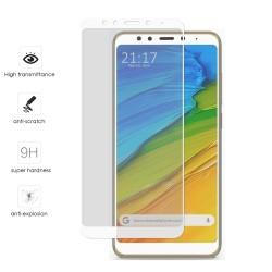 Protector Cristal Templado Frontal Completo Blanco para Xiaomi Redmi 5 Plus Vidrio