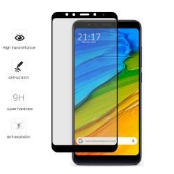 Protector Cristal Templado Frontal Completo Negro para Xiaomi Redmi 5 Plus Vidrio