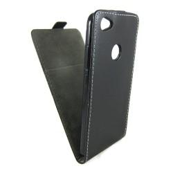 Funda Piel Premium Negra Ultra-Slim para Xiaomi Redmi Note 5A Pro / 5A Prime