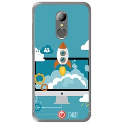 Funda Gel Tpu para Homtom HT37 - HT37 Pro Diseño Cohete Dibujos