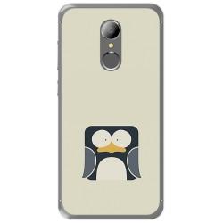 Funda Gel Tpu para Homtom HT37 - HT37 Pro Diseño Pingüino Dibujos