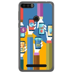 Funda Gel Tpu para Leagoo Kiicaa Power Diseño Apps Dibujos