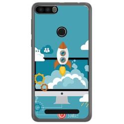 Funda Gel Tpu para Leagoo Kiicaa Power Diseño Cohete Dibujos