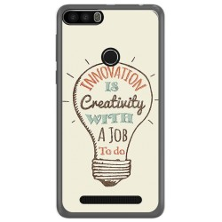 Funda Gel Tpu para Leagoo Kiicaa Power Diseño Creativity Dibujos