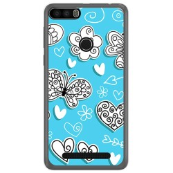 Funda Gel Tpu para Leagoo Kiicaa Power Diseño Mariposas Dibujos