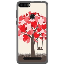 Funda Gel Tpu para Leagoo Kiicaa Power Diseño Pajaritos Dibujos
