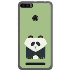 Funda Gel Tpu para Leagoo Kiicaa Power Diseño Panda Dibujos