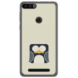 Funda Gel Tpu para Leagoo Kiicaa Power Diseño Pingüino Dibujos
