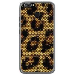 Funda Gel Tpu para Oukitel U22 Diseño Leopardo Dibujos