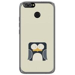 Funda Gel Tpu para Oukitel U22 Diseño Pingüino Dibujos