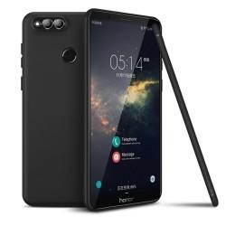 Funda Gel Tpu Tipo Mate Negra para Huawei Honor 7X