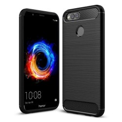Funda Gel Tpu Tipo Carbon Negra para Huawei Honor 7X