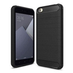 Funda Gel Tpu Tipo Carbon Negra para Xiaomi Redmi Note 5A
