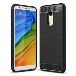 Funda Gel Tpu Tipo Carbon Negra para Xiaomi Redmi 5 Plus