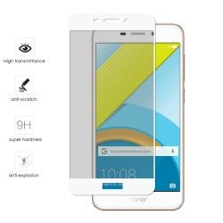 Protector Cristal Templado Frontal Completo Blanco para Huawei Honor 6C Pro Vidrio