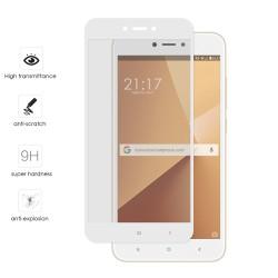 Protector Cristal Templado Frontal Completo Blanco para Xiaomi Redmi Note 5A Vidrio