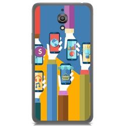 Funda Gel Tpu para Alcatel A2 Xl Diseño Apps Dibujos