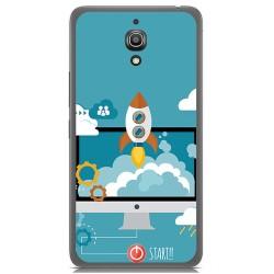 Funda Gel Tpu para Alcatel A2 Xl Diseño Cohete Dibujos