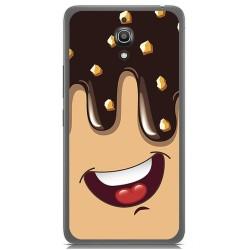 Funda Gel Tpu para Alcatel A2 Xl Diseño Helado Chocolate Dibujos