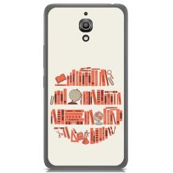 Funda Gel Tpu para Alcatel A2 Xl Diseño Mundo Libro Dibujos