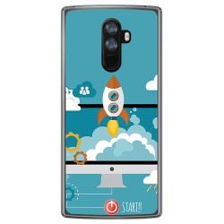 Funda Gel Tpu para Doogee Mix 2 Diseño Cohete Dibujos