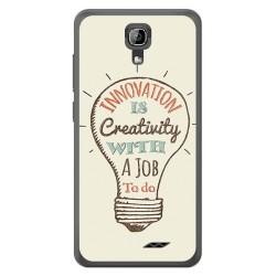 Funda Gel Tpu para Homtom HT26 Diseño Creativity Dibujos