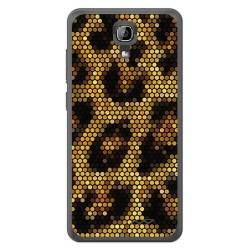 Funda Gel Tpu para Homtom HT26 Diseño Leopardo Dibujos