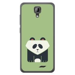 Funda Gel Tpu para Homtom HT26 Diseño Panda Dibujos