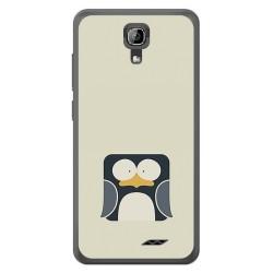 Funda Gel Tpu para Homtom HT26 Diseño Pingüino Dibujos
