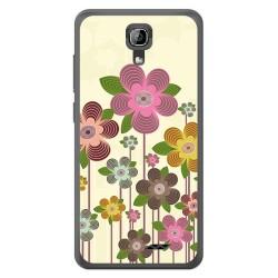 Funda Gel Tpu para Homtom HT26 Diseño Primavera En Flor Dibujos
