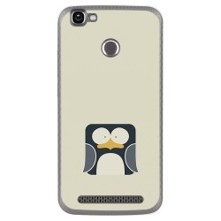 Funda Gel Tpu para Homtom HT50 Diseño Pingüino Dibujos