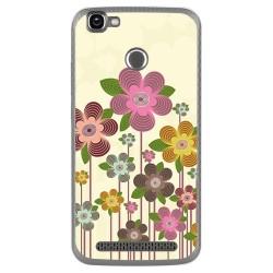 Funda Gel Tpu para Homtom HT50 Diseño Primavera En Flor  Dibujos